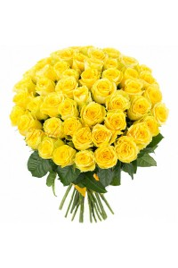 51 Yellow Rose bouquet