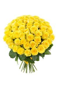 Букет 51 жълти рози