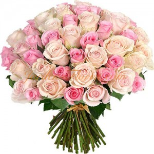 51 розови и бели рози