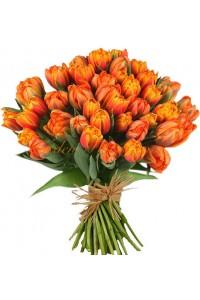 51 оранжеви лалета