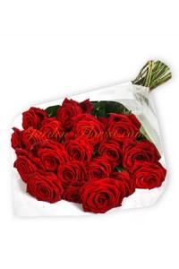 Класически букет от червени рози