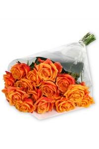 Класически букет от рози в оранж