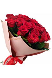 Букет от 25 червени рози