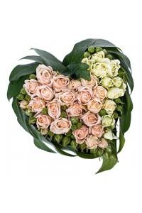 Сърце от 33 рози микс