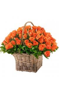 """Basket """"51 orange roses"""""""